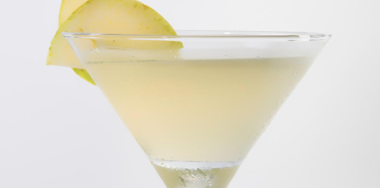 Hot apple martini