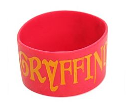 Harry Potter Gryffindor Rubber Bracelet from Hot Topic