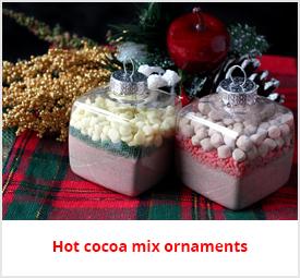 hot cocoa ornaments