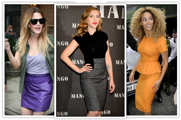 Hourglass body shape - skirts