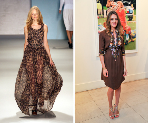Sheer brown dress fashion trend