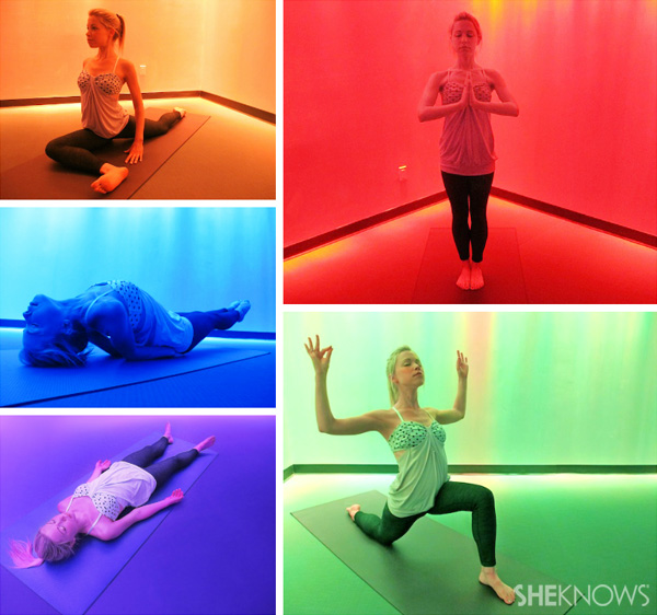 Fitness trend: Yoga classes that use color and lighting