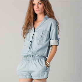 AG Adriano Goldschmied Chambray Romper