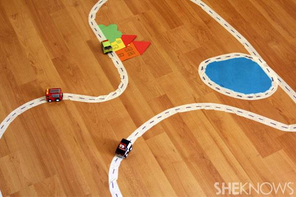 masking tape car track