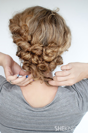 How to create a curly twist -- Step 3