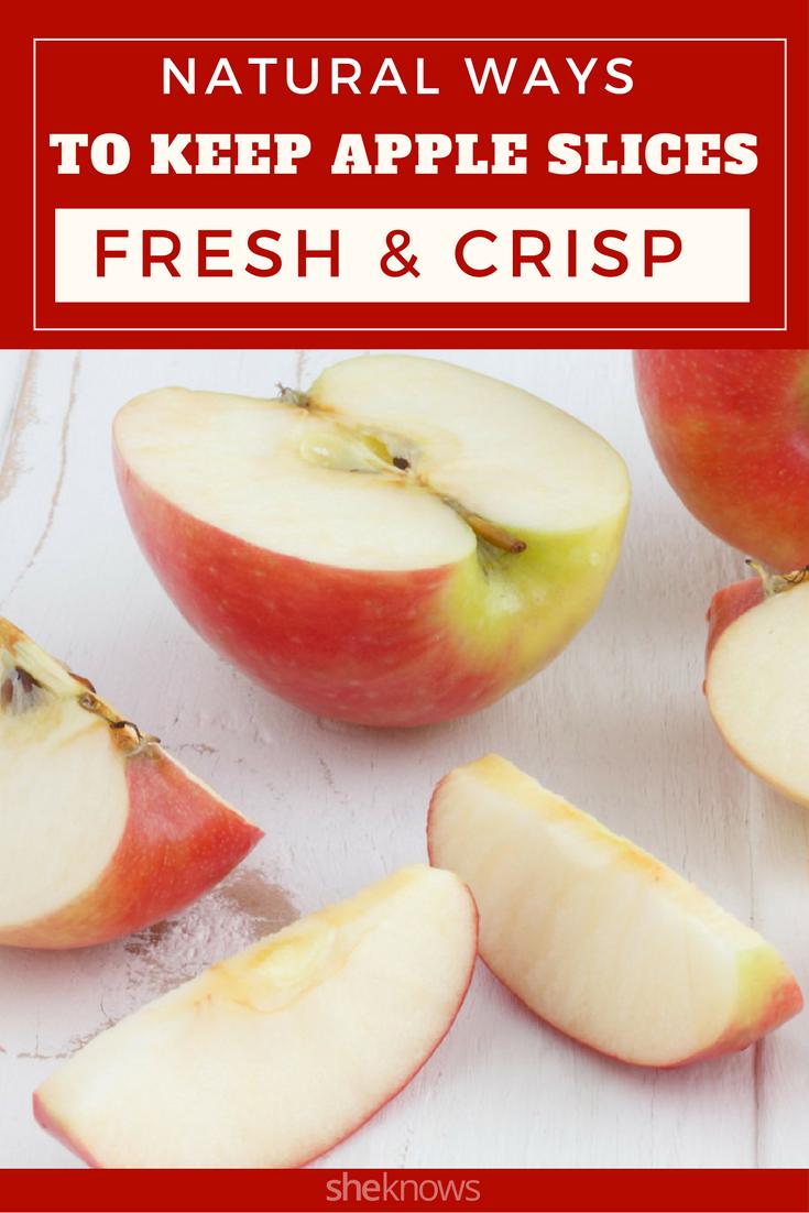 keep apple slices fresh