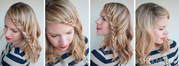 How-to: Lace braid hairstyle tutorial