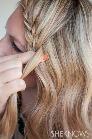 How To Lace Braid Hairstyle Tutorial Sheknows