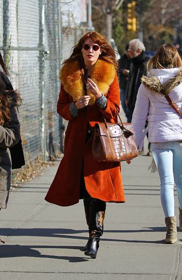 Florence Welch'slayered look