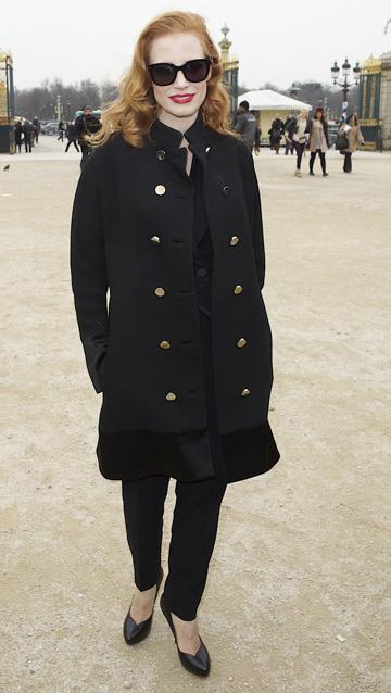 Jessica Chastain'slayered look