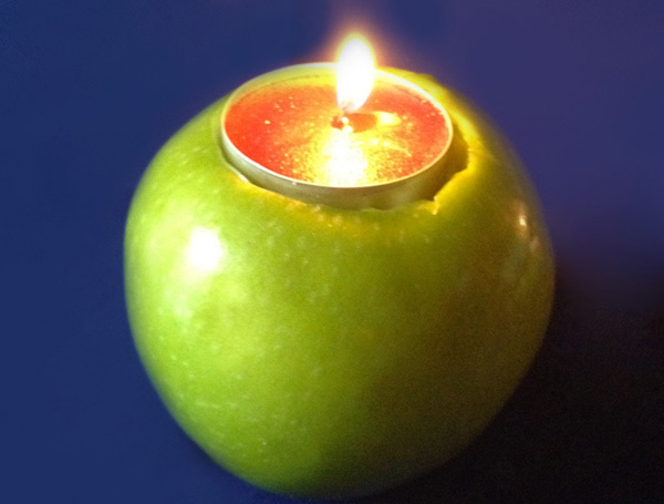 Candled apples
