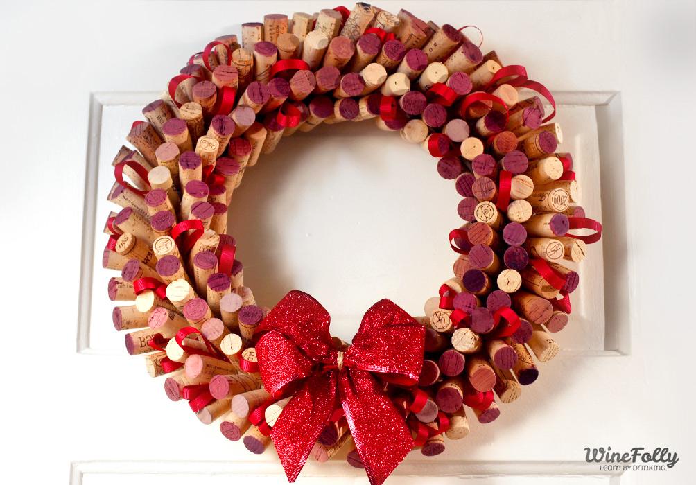 Wine cork wreath by Wine Folly