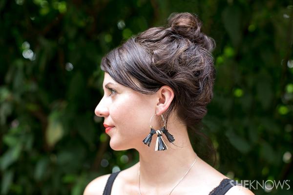 DIY Bohemian raffia earrings | SheKnows.com