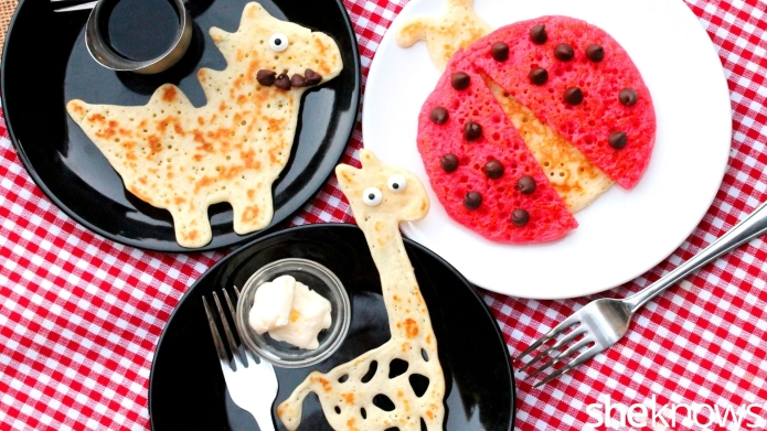 How to make pancake shapes that