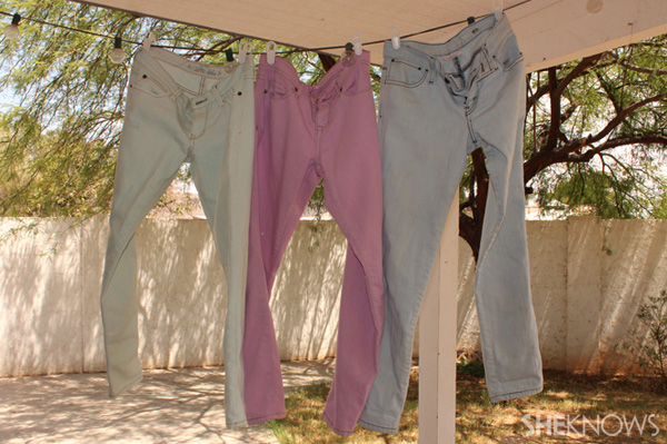 DIY dyed jeans