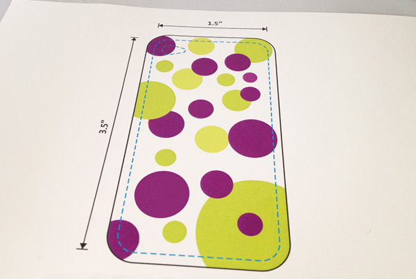 Custom iPhone case -- templatese