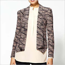 Rebecca Minkoff Becky Vega Print Silk Blazer