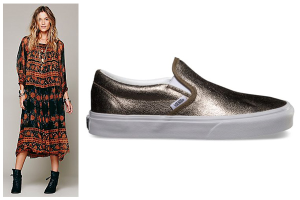 Rule #4: Do a midi or maxi dress with low top, slip on kicks