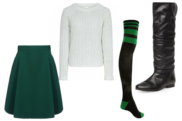 How to wear skirts in the winter -- wear tall boots