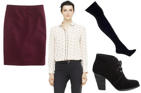 How to wear skirts in the winter -- wear tights