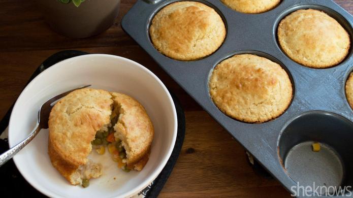 Gluten-free vegetarian pot pie just as