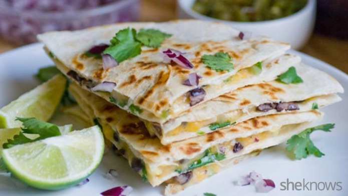 Fully loaded veggie quesadillas with roasted