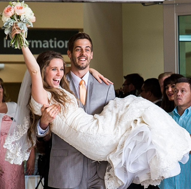 Derick Dillard and Jill Duggar wedding picture