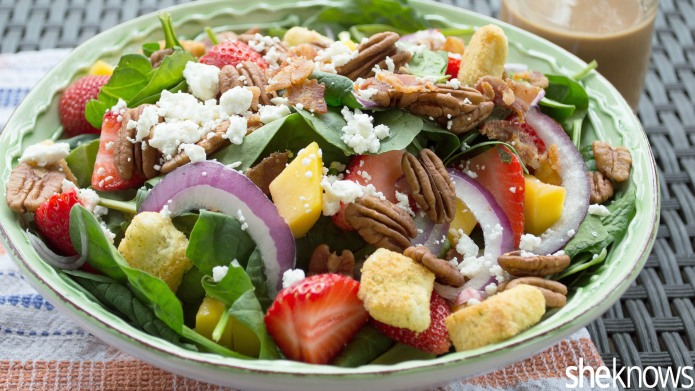 Homemade bacon dressing makes this warm