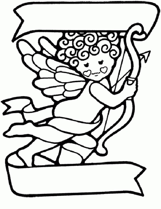 Valentine's Day Coloring Pages: Cupid