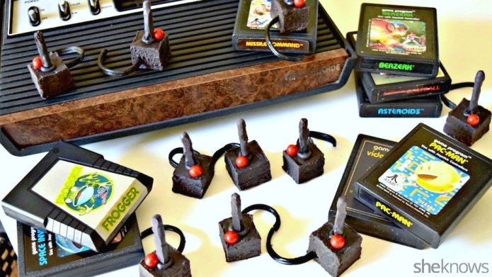 Retro joysticks made of fudge are