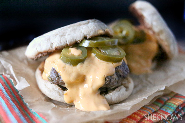 Best Super Bowl Snacks: Extra-Cheesy Nacho Burgers