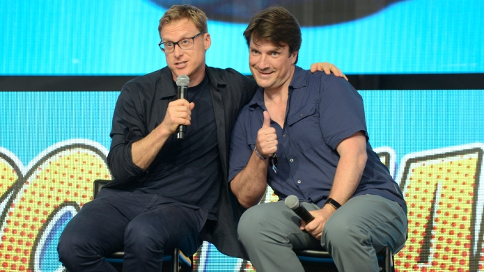 Alan Tudyk and Nathan Fillion from