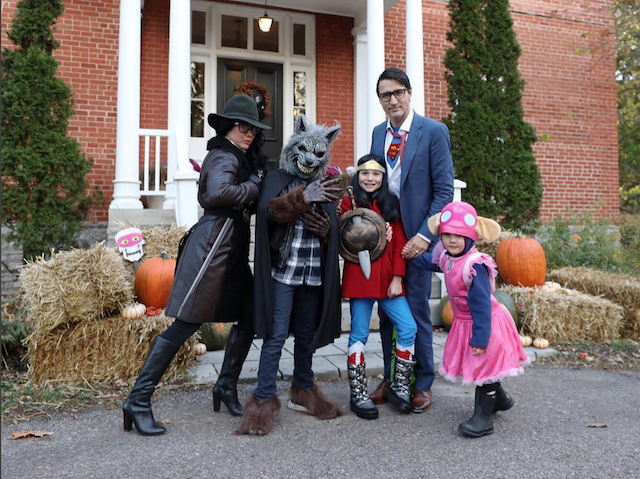 Best celebrity Halloween costumes 2017: Justin Trudeau and family