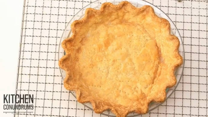 Baking the perfect pie shell is