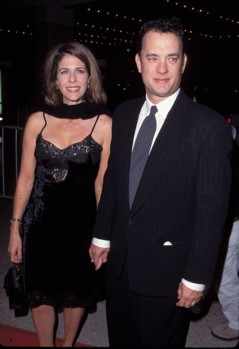 Tom Hanks and Rita Wilson at the premiere of 'That Thing You Do!'