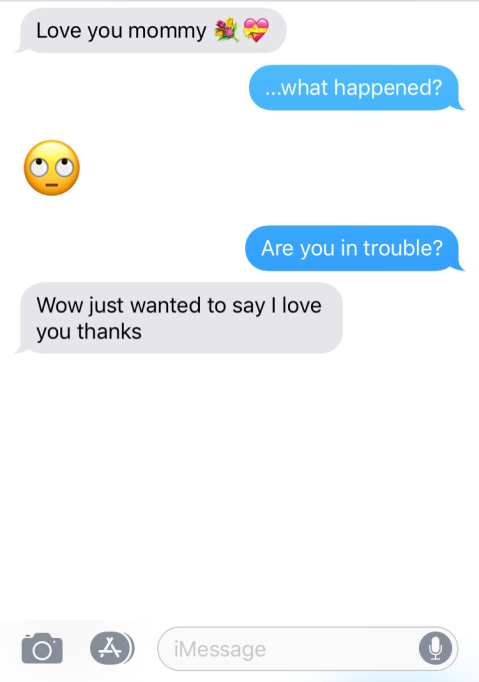 """The Funniest """"Texts from My Teen"""" - suspiciously nice"""