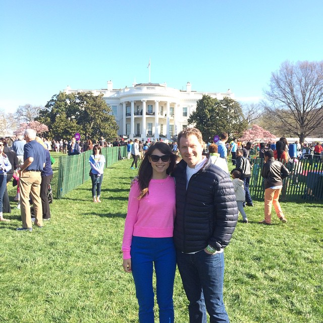 Bobby Flay and daughter Sophie at the White House