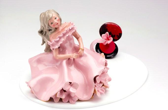 Art sculpture made from makeup