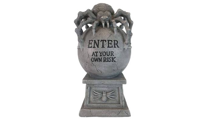 The 15 Best Target Halloween Decorations Under $20 | Place this spider tombstone outside your house