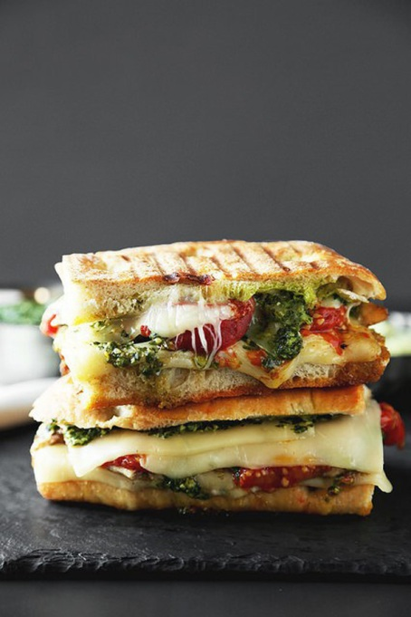 Sandwiches and Wraps for a Healthy Lunch | Grilled Chicken Pesto Panini