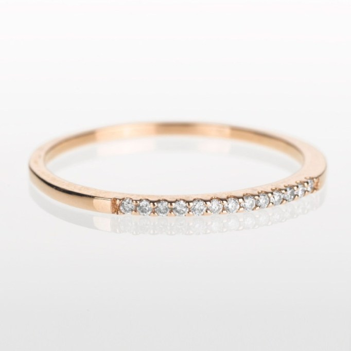 Stackable Rings To Stock Up On: Liberti Geneva Stackable Diamond Ring in Rose Gold | Summer Fashion 2017