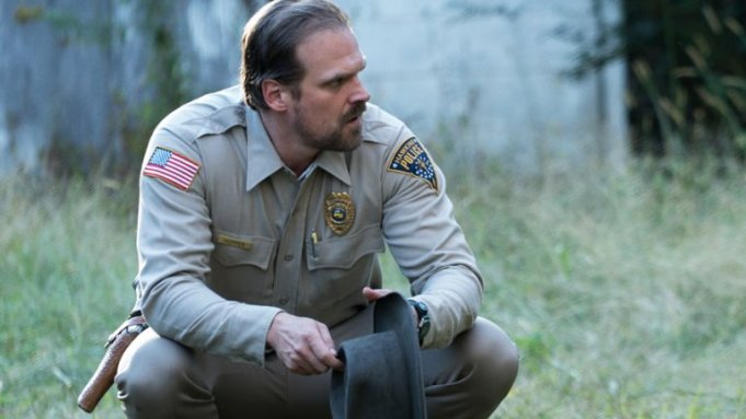 Hopper on Stranger Things