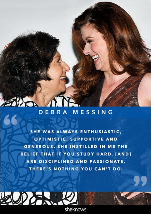 Debra Messing and her mom