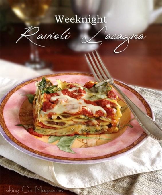 Weeknight Ravioli Lasagna