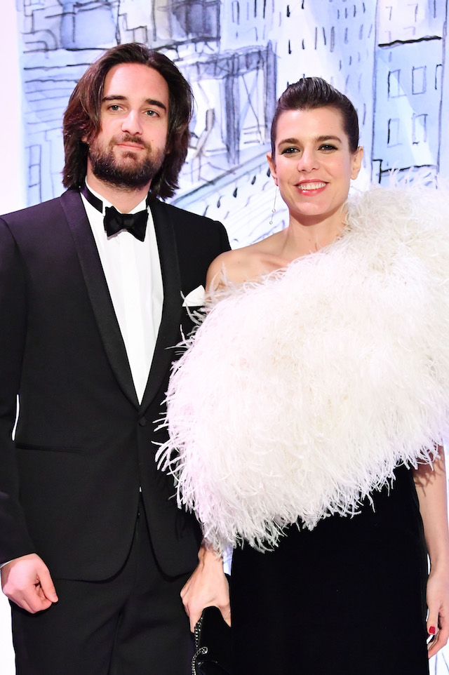 Dimitri Rassam and Charlotte Casiraghi arrive at the Rose Ball 2018 To Benefit The Princess Grace Foundation at Sporting Monte-Carlo