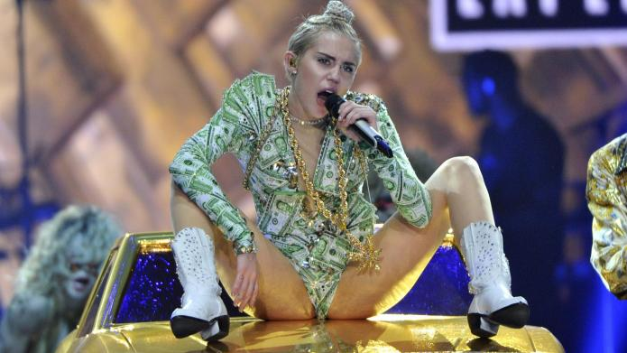 Raunchy act gets Miley Cyrus banned