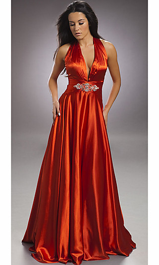 Orange halter dress