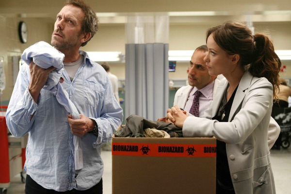 Hugh Laurie and Olivia Wilde on Season 4 of House