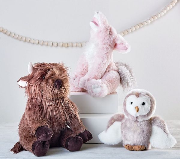 Look inside Hannah Simone's Americana-chic nursery: Pottery Barn Junk Gypsy plush animals
