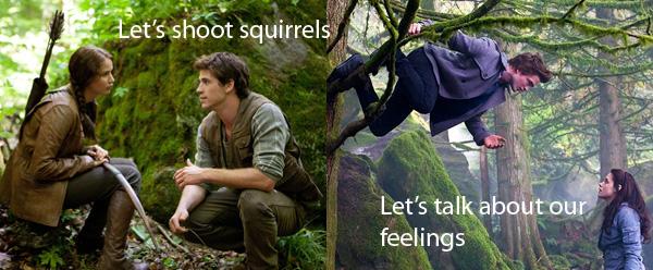 Katiss and Gale versus Bella and Edward